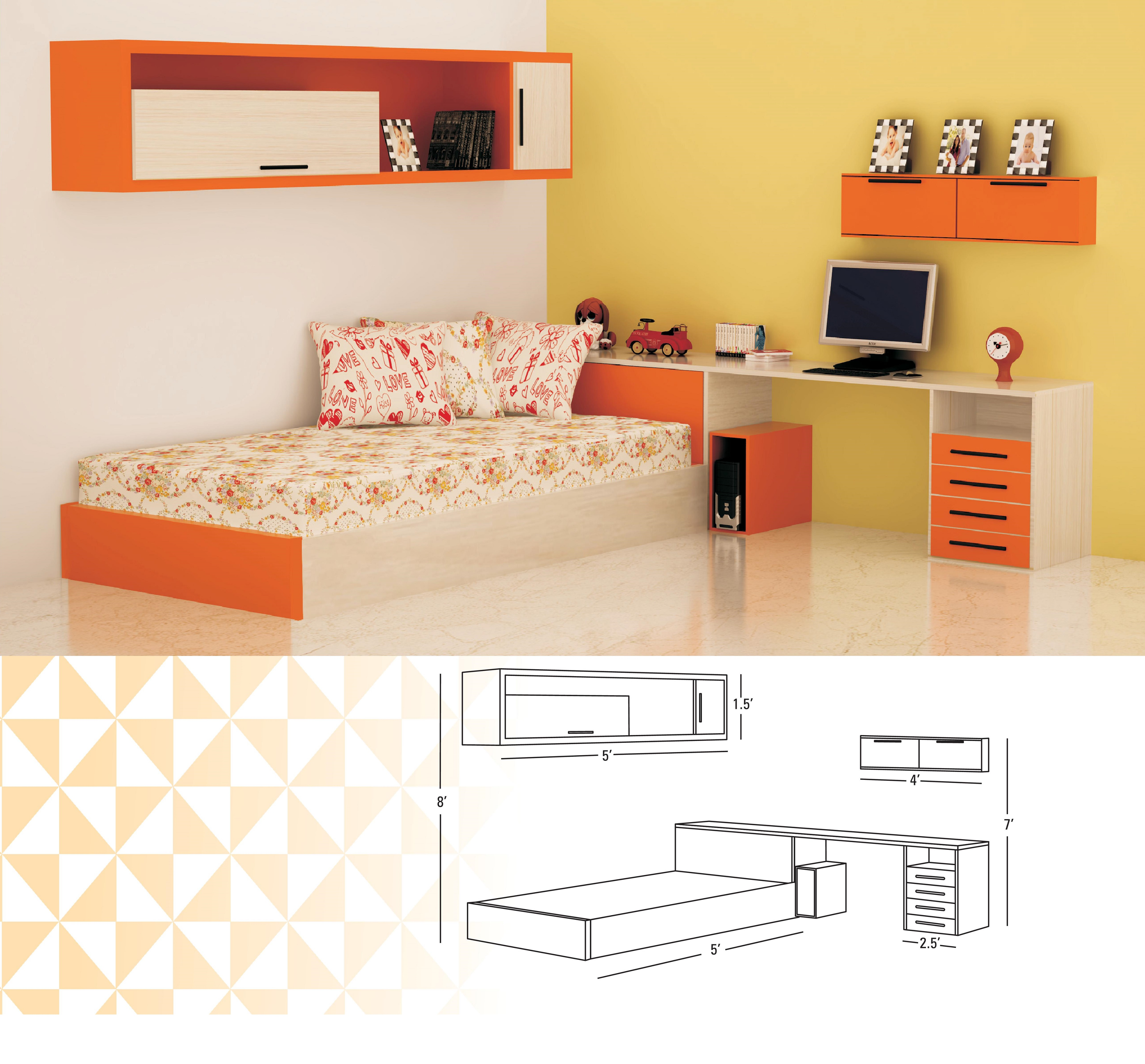 Kids Room with Single Bed