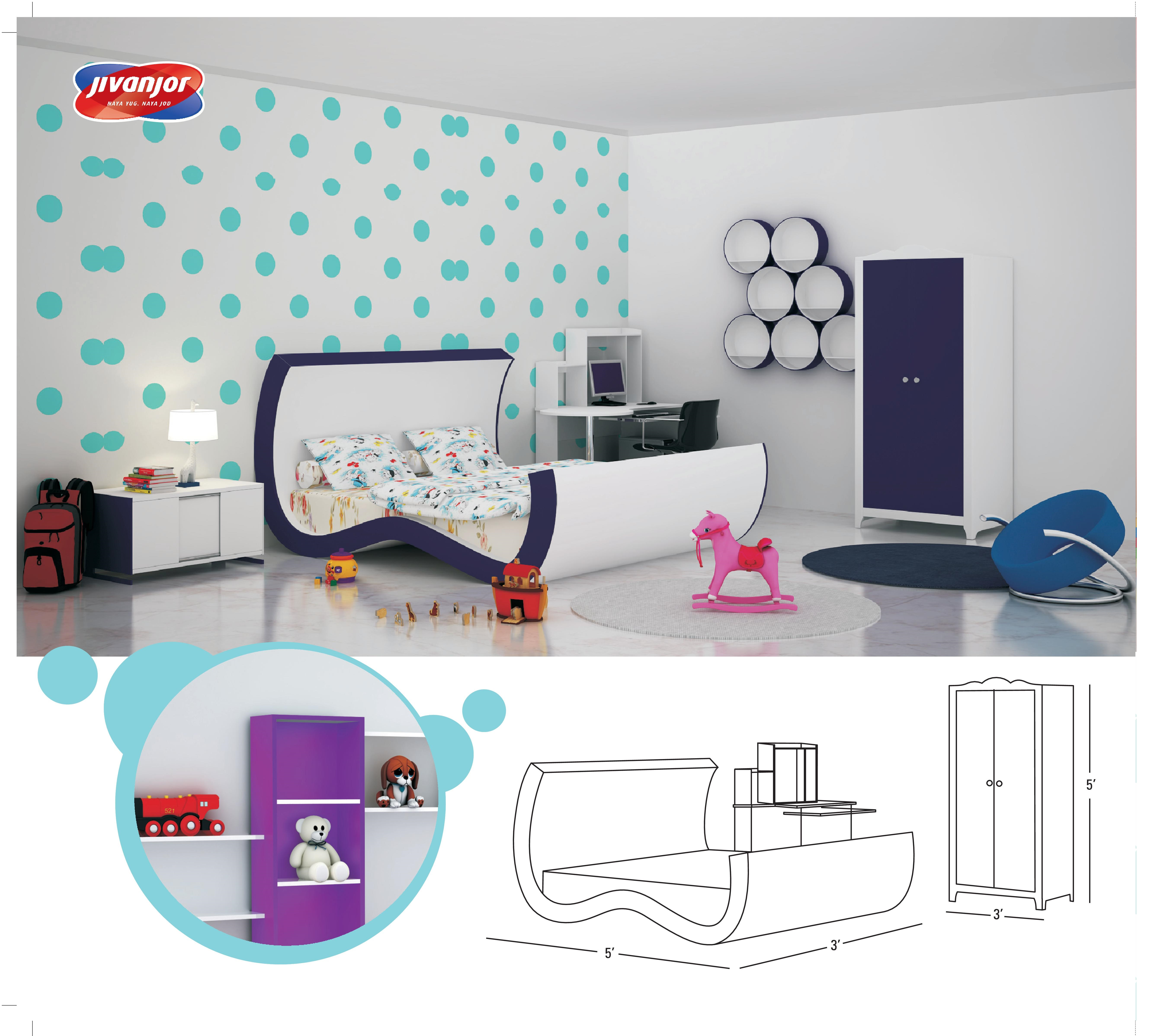 Kids Double Bed Room with Master Bed