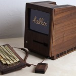 1984 Apple Macintosh ReCrafted with Wood & Gold